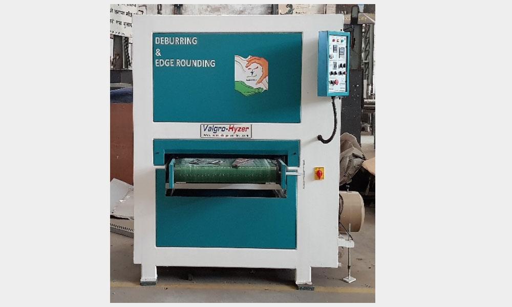 Wide Belt sheet metal edge deburring Machine, Edge Rounding and Finishing Machine Manufacturers - Valgro Hyzer