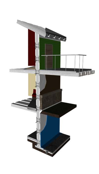 LiteDeck Full Building Cutaway