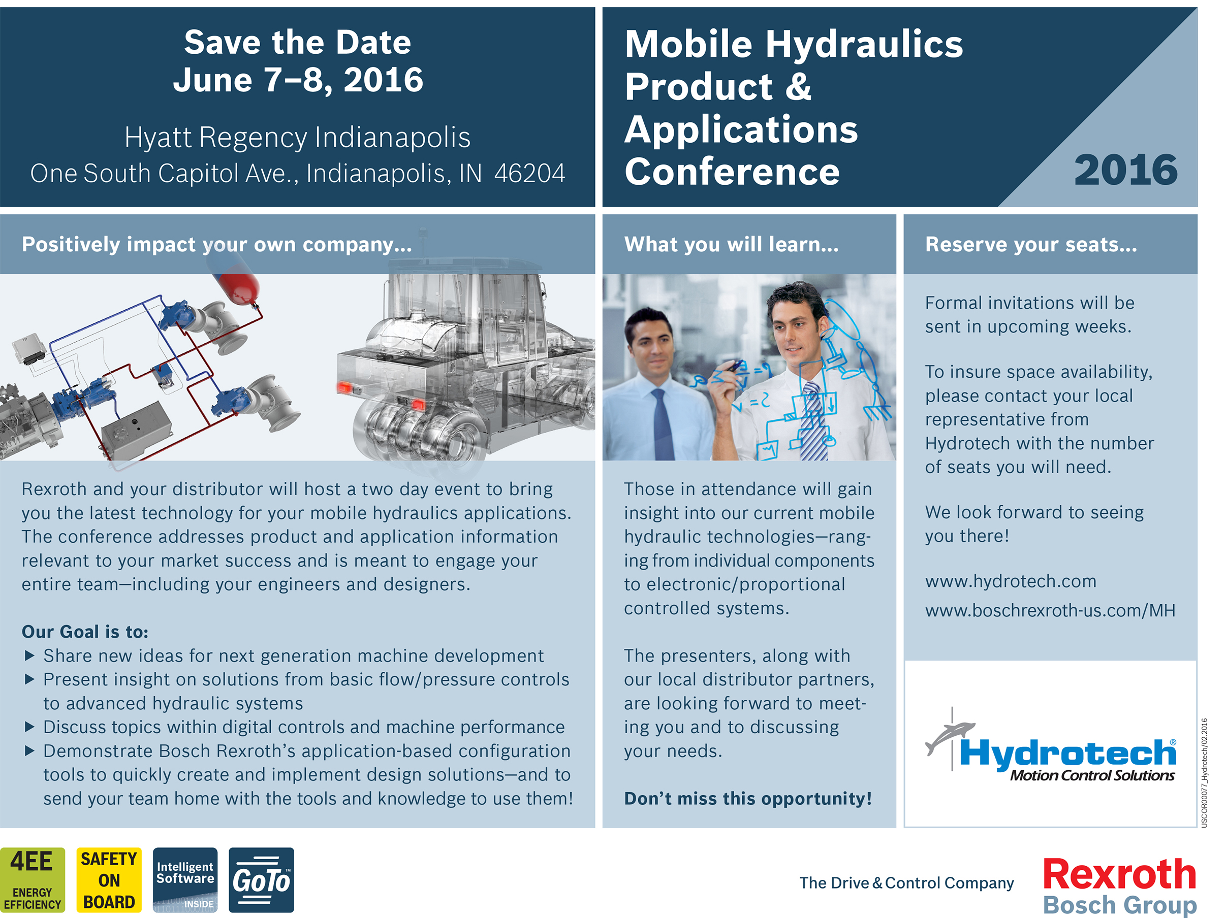 Bosch Rexroth to Host Mobile Hydraulics Product & Applications