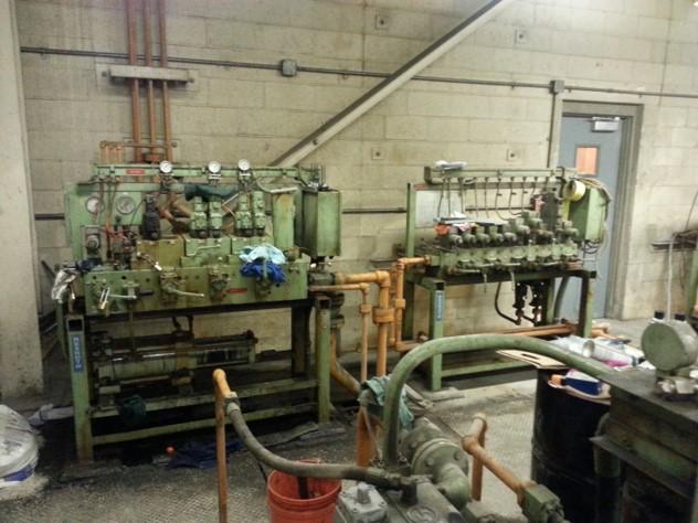Hydraulic manifold setup